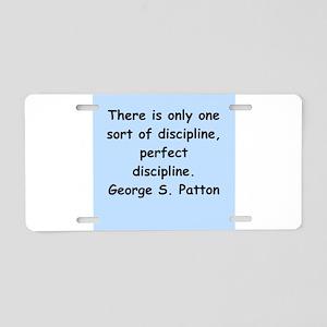 george s patton quotes Aluminum License Plate