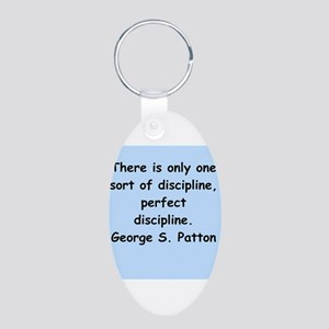 george s patton quotes Aluminum Oval Keychain