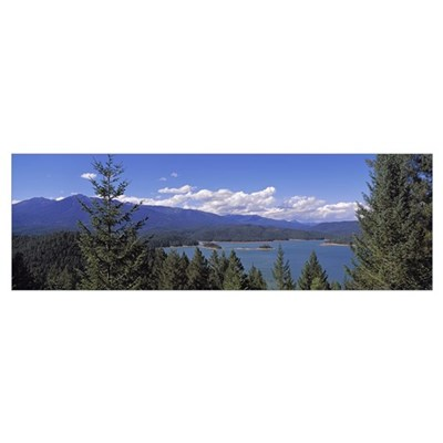 California, Clair Engle Lake, Panoramic view of a Poster