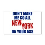 New York Football Car Magnet 20 x 12