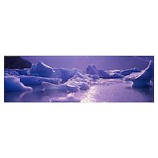 Alaska, Portage Lake, icebergs Poster