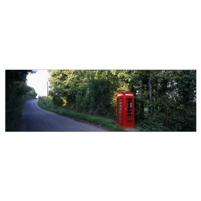 England, Worcestershire, phone booth Poster