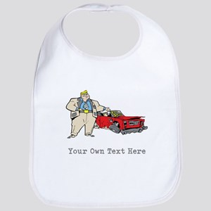 Car Sale Cartoon. Custom Text Bib