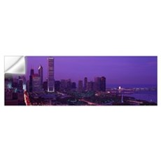 Evening Chicago IL Wall Decal