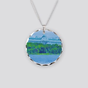 Grand Hotel Necklace Circle Charm