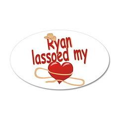 Ryan Lassoed My Heart 38.5 x 24.5 Oval Wall Peel