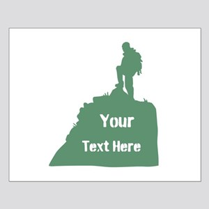 Hiking Climbing. Custom Text. Small Poster