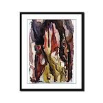 Poured Art Framed Panel Print