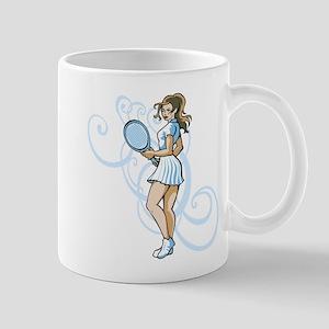 Girl Tennis Player. Mug