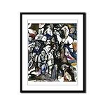 Poured Figures Framed Panel Print