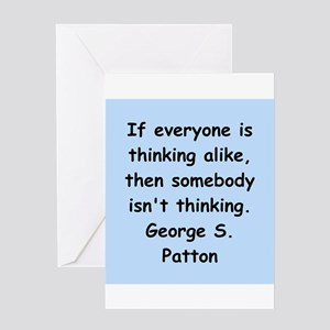 george s patton quotes Greeting Card