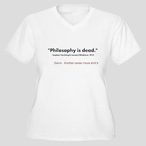 """""""Philosophy Is Dead"""" Women's Plus Size V-Neck T-Sh"""