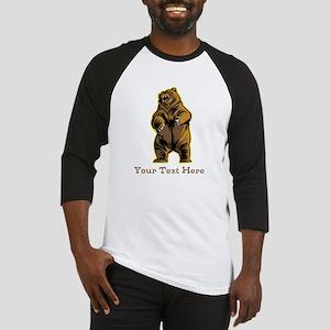 Bear. Custom Text. Baseball Jersey