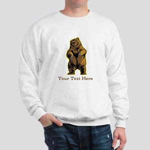 Bear. Custom Text. Sweatshirt
