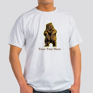 Bear. Custom Text. Light T-Shirt