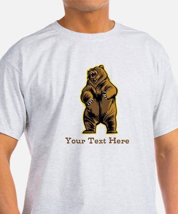 Bear. Custom Text. T-Shirt