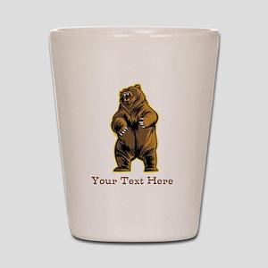 Bear. Custom Text. Shot Glass