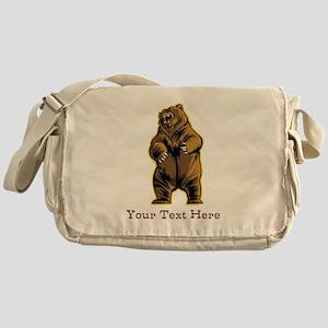 Bear. Custom Text. Messenger Bag