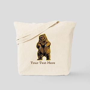 Bear. Custom Text. Tote Bag
