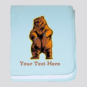 Bear. Custom Text. baby blanket