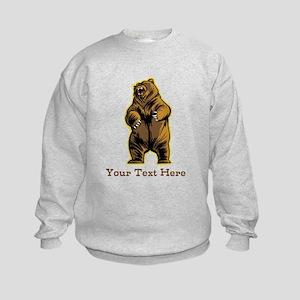Bear. Custom Text. Kids Sweatshirt