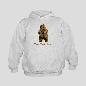 Bear. Custom Text. Kids Hoodie
