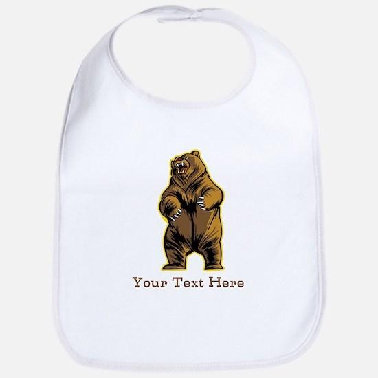 Bear. Custom Text. Bib