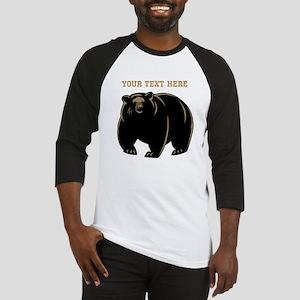 Big Bear with Custom Text. Baseball Jersey