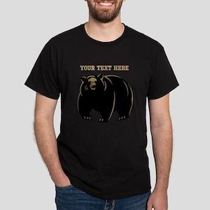 Big Bear with Custom Text. Dark T-Shirt