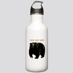 Big Bear with Custom Text. Stainless Water Bottle