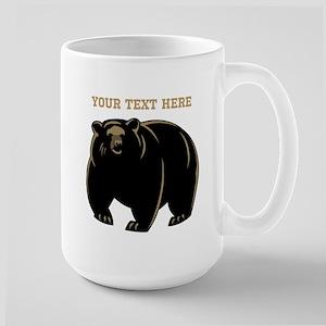 Big Bear with Custom Text. Large Mug