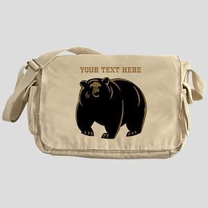 Big Bear with Custom Text. Messenger Bag