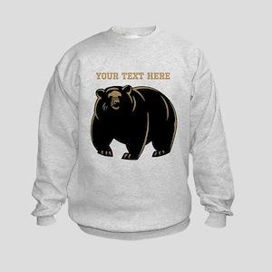 Big Bear with Custom Text. Kids Sweatshirt