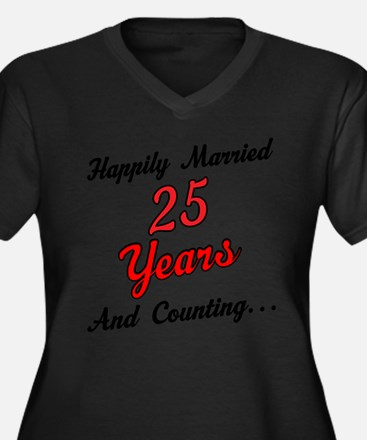 25th Anniversary Gift Married Plus Size T-Shirt
