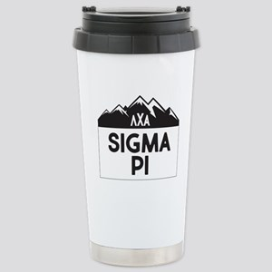 Sigma Pi Mountain 16 oz Stainless Steel Travel Mug