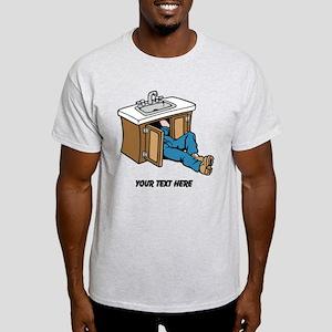 Plumber. Custom Text. Light T-Shirt