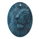 Ghostly Lion Ornament (Oval)