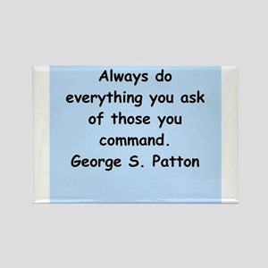 george s patton quotes Rectangle Magnet