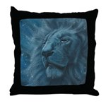 Ghostly Lion Throw Pillow