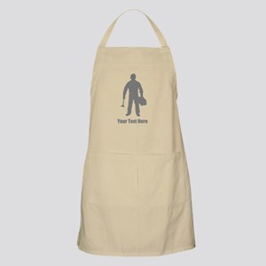 Plumber, Gray with Text. Apron