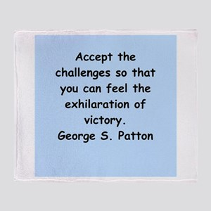 george s patton quotes Throw Blanket