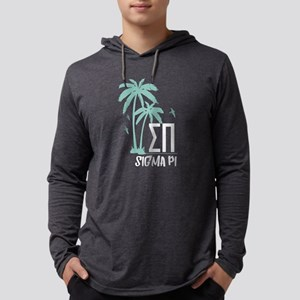 Sigma Pi Palm Tree Mens Hooded T-Shirts