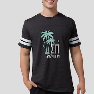 Sigma Pi Palm Tree Mens Football T-Shirts