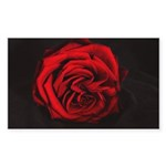 Red Rose Sticker (Rectangle 50 pk)