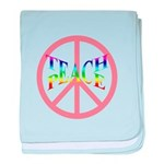 Teach Peace baby blanket