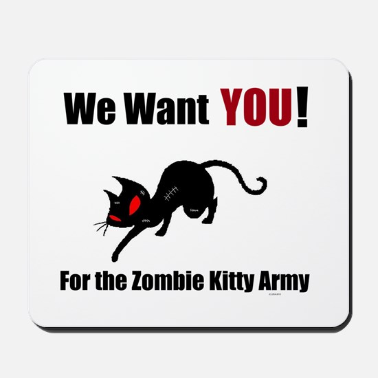 Zombie Kitty Attach Mousepad