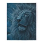 Ghostly Lion Throw Blanket