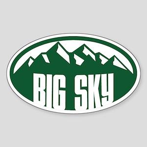 Big Sky Ovals Sticker (Oval)