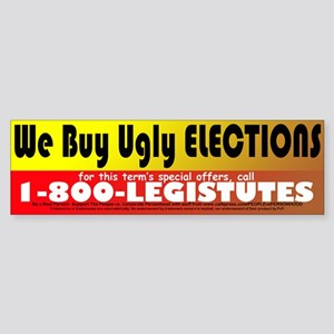 Buy Ugly Elections Sticker (Bumper)