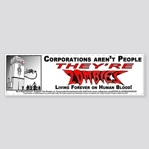 Corporate Zombies Sticker (Bumper)